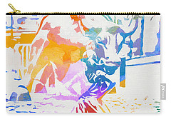 Carry-all Pouch featuring the painting Colorful Fearless Girl by Dan Sproul