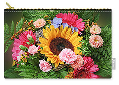 Colorful Flower Arrangement Carry-all Pouch