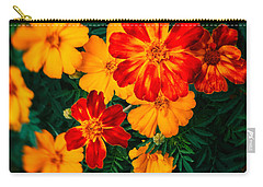 Carry-all Pouch featuring the photograph Colorful Flowers by Silvia Ganora