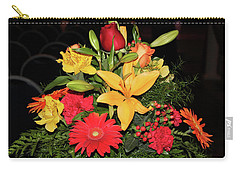 Colorful Flowers Carry-all Pouch by Suhas Tavkar