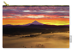 Colorful Foggy Sunrise Over Sandy River Valley Carry-all Pouch