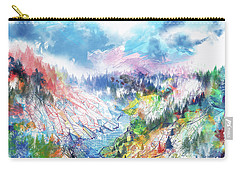 Colorful Forest 5 Carry-all Pouch by Bekim Art