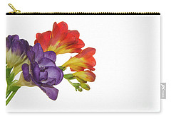 Colorful Freesias Carry-all Pouch by Elvira Ladocki