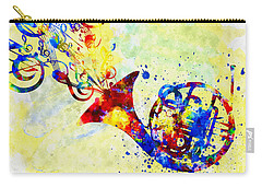 Colorful French Horn Carry-all Pouch by Olga Hamilton