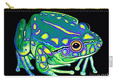 Carry-all Pouch featuring the painting Colorful Froggy 2 by Nick Gustafson