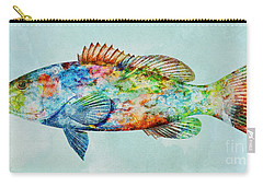 Colorful Gag Grouper Art Carry-all Pouch