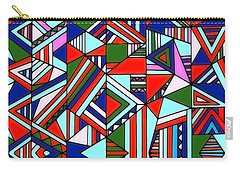 Colorful Geometric Design Carry-all Pouch