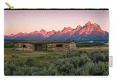 Colorful Grand Teton National Park Sunrise Carry-all Pouch by Serge Skiba