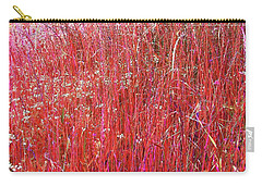 Carry-all Pouch featuring the photograph Colorful Grasses Pano by Ellen Barron O'Reilly