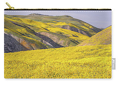 Carry-all Pouch featuring the photograph Colorful Hill And Golden Field by Marc Crumpler