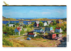 Colorful Homes In Trinity, Newfoundland - Painterly Carry-all Pouch by Les Palenik