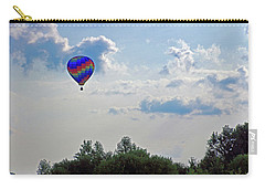 Carry-all Pouch featuring the photograph Colorful Hot Air Balloon by Angela Murdock