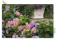Colorful Hydrangea Carry-all Pouch by Living Color Photography Lorraine Lynch