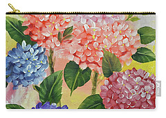 Carry-all Pouch featuring the painting Colorful Hydrangeas by Jimmie Bartlett