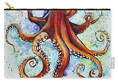 Colorful Ink Carry-all Pouch by Arleana Holtzmann