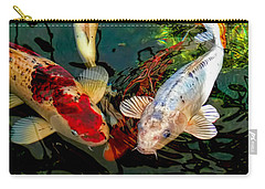 Colorful  Japanese Koi Fish Carry-all Pouch