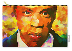 Colorful Jay Z Palette Knife Carry-all Pouch by Dan Sproul