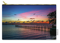 Colorful Lagoon Sunrise Carry-all Pouch
