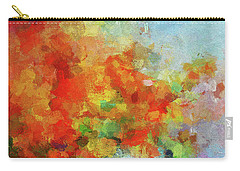Carry-all Pouch featuring the painting Colorful Landscape Art In Abstract Style by Ayse Deniz