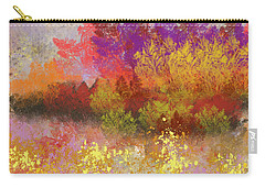 Carry-all Pouch featuring the digital art Colorful Landscape by Jessica Wright