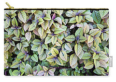 Carry-all Pouch featuring the photograph Colorful Leaves Bush,the Color And Textured Of Nature In Natural by Jingjits Photography