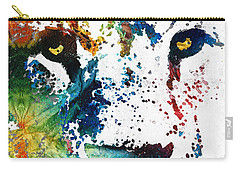 Colorful Lion Art By Sharon Cummings Carry-all Pouch by Sharon Cummings