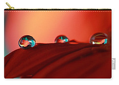 Colorful Macro Water Drops Carry-all Pouch