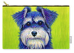 Colorful Miniature Schnauzer Dog Carry-all Pouch