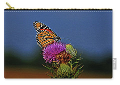 Carry-all Pouch featuring the photograph Colorful Monarch by Sandy Keeton