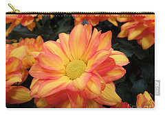 Carry-all Pouch featuring the photograph Colorful Mums by Ray Shrewsberry
