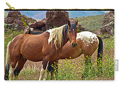 Colorful Mustang Horses Carry-all Pouch
