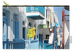 Carry-all Pouch featuring the photograph Colorful Mykonos by Carla Parris