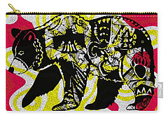 Colorful Native Black Bear Carry-all Pouch by Ayasha Loya
