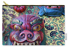 Carry-all Pouch featuring the photograph Colorful Nepalese Masks by John  Mitchell