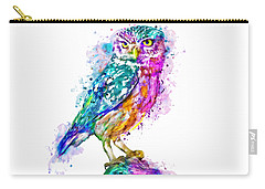 Colorful Owl Carry-all Pouch by Marian Voicu