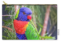 Colorful Parakeet Carry-all Pouch by Stephanie Hayes