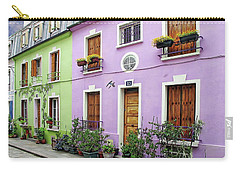 Colorful Parisian Homes Carry-all Pouch by Anthony Dezenzio
