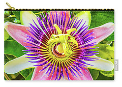 Colorful Passiflora Flower Of Bermuda Carry-all Pouch