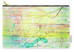 Colorful Pastel Art - Mixed Media Abstract Painting Carry-all Pouch