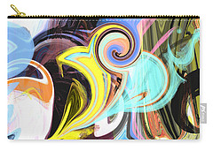 Colorful Pastel Swirls Carry-all Pouch by Jessica Wright