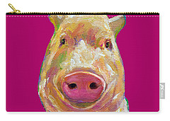 Colorful Pig Painting Carry-all Pouch