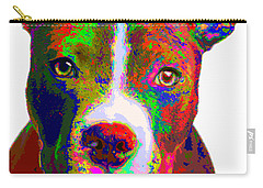 Colorful Pit Bull Terrier  Carry-all Pouch