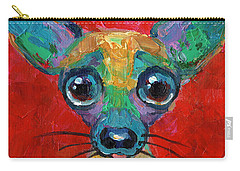 Colorful Pop Art Chihuahua Painting Carry-all Pouch