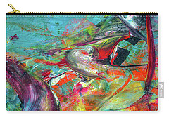 Colorful Puffin Bird Art - Happy Abstract Animal Birds Painting Carry-all Pouch