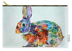 Colorful Rabbit Art Carry-all Pouch by Olga Hamilton