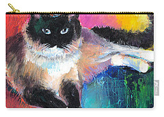 Colorful Ragdoll Cat Painting Carry-all Pouch