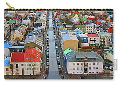 Colorful Reykjavik Iceland 7276 Carry-all Pouch