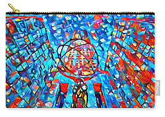 Carry-all Pouch featuring the painting Colorful Rockefeller Center Atlas by Dan Sproul
