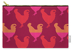 Colorful Roosters- Art By Linda Woods Carry-all Pouch by Linda Woods