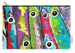 Colorful Sardines Carry-all Pouch by Scott D Van Osdol